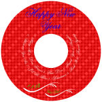 Happy New Year CD Labels 4.625x4.625