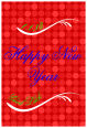 Happy New Year Vertical Rectangle Labels 1.875x2.75