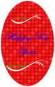 Happy New Year Oval Labels 2.25x3.5