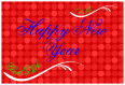 Happy New Year Horizontal Rectangle Labels 1.875x2.75