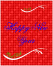 Happy New Year Vertical Big Rectangle Labels 3.25x4