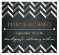 Chalkboard Chevrom Square Wedding Label