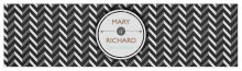 Chalkboard Chevron Water Bottle Wedding Labels