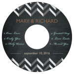 Chalkboard Chevron CD Wedding Labels