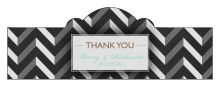 Chalkboard Chevron Billbord Cigar Band Wedding Labels