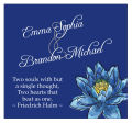 Floral Fairytale Flower Square Wedding Label