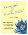 Floral Fairytale Flower Vertical Big Rectangle Wedding Label