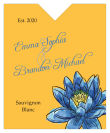 Floral Fairytale Flower Wine Wedding Label 3.25x4