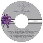 Floral Lovely Lavender CD Wedding Label