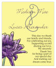 Floral Lovely Lavender Vertical Big Rectangle Wedding Label