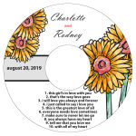 Summer Floral Trio CD Wedding Label