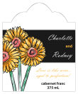 Summer Floral Trio Scalloped Vertical Big Rectangle Wedding Label