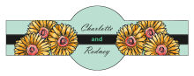 Summer Floral Trio Wedding Cigar Band Label