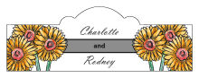 Summer Floral Trio Billbord Cigar Band Wedding Label