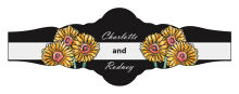 Summer Floral Trio Wedding Fancy Cigar Band Label