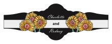 Summer Floral Trio Wedding Fancy Cigar Band Label