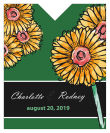 Summer Floral Trio Wine Wedding Label 3.25x4