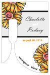 Customized Summer Floral Trio Bottom's Up Rectangle Wine Wedding Label