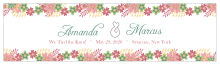 Infinity Floral Wreath Water Bottle Wedding Label