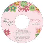 Infinity Floral Wreath CD Wedding Label