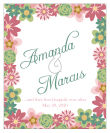 Infinity Floral Wreath Vertical Big Rectangle Wedding Label