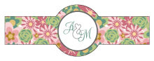 Infinity Floral Wreathr Wedding Cigar Band Label