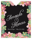 Infinity Floral Wreath Wine Wedding Label 3.25x4