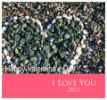 Just Photo  with Text Valentine Big Square Labels 3.5x3.25