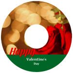 CD Photo Holiday Labels Text
