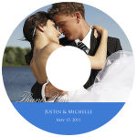 CD Photo With Text Wedding Labels