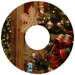 CD Photo Christmas Labels