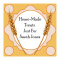 Wheat Large Square Food & Craft Label