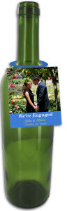 Photo Cellar Wedding Wine Bottle Tags With Text
