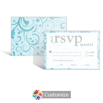 Serenity 5 x 3.5 RSVP Enclosure Card - Dinner Choice