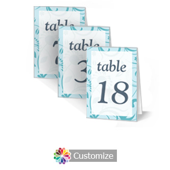 Serenity 3.5 x 5 Large Folded Wedding Table Number