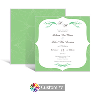 Wave 5.875 x 5.875 Square Wedding Invitation