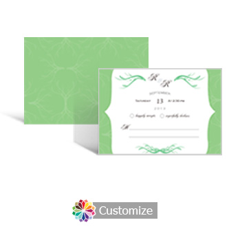 Wave 5 x 3.5 RSVP Enclosure Card - Reception