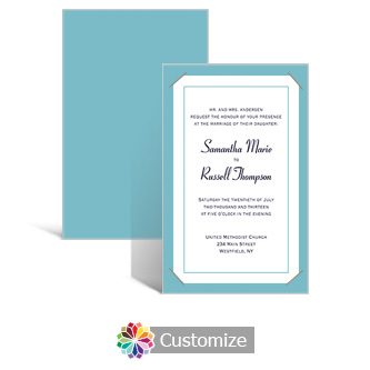 Classical 5 x 7.875 Layered Rectangle w/Vellum Wedding Invitation