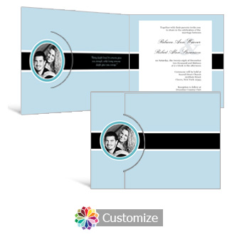 Memorable 7.25 x 5.125 Folded Wedding Invitation