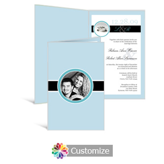 Memorable 5 x 7.875 Half-Fold Wedding Invitation
