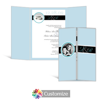 Memorable 5 x 7 Gate-Fold Wedding Invitation