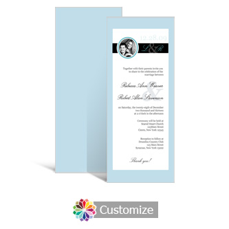 Memorable 3.625 x 8.875 Tea-Length Wedding Invitation