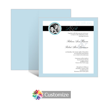 Memorable 5.875 x 5.875 Square Wedding Invitation