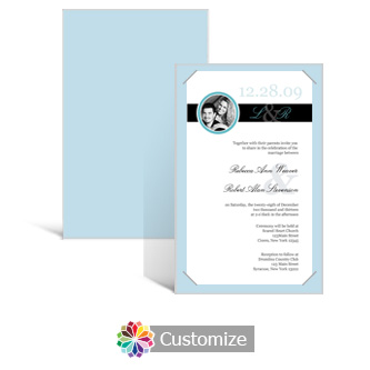 Memorable 5 x 7.875 Layered Rectangle w/Vellum Wedding Invitation