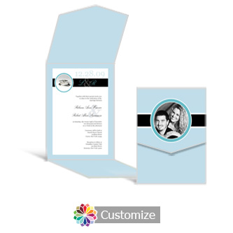 Memorable 5.25 x 7.25 Vertical Gate-Fold Wedding Invitation