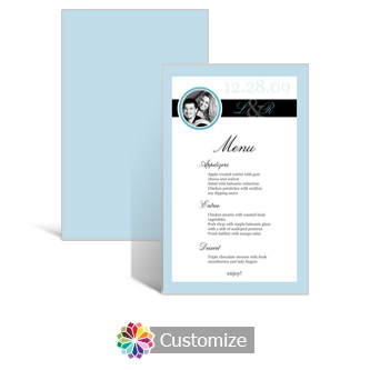 Memorable 5 x 7.875 Rectangle Flat Wedding Menu