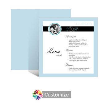 Memorable 5.875 x 5.875 Square Wedding Menu