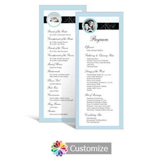 Memorable 3.625 x 8.875 Tea-Length Wedding Program