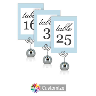 Memorable 3.5 x 5 Flat Wedding Table Number for Stand