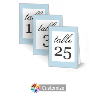Memorable 3.5 x 5 Large Folded Wedding Table Number